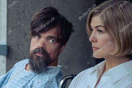 Stock Image of Peter Dinklage and Rosamund Pike