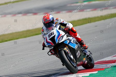 Tom Sykes (GBR) riding BMW M 1000 RR for BMW Motorrad WORLDSBK Team; Barcelona, Spain; World Superbike testing at Circuit Barcelona-Catalunya.