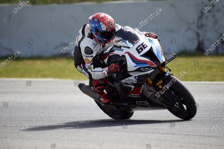 Stock Photo of Tom Sykes of the MW Motorrad WORLDSBK Team in action with the BMW S1000 RR; Circuit de Barcelona Catalunya, Barcelona, Spain; FIM Superbike World Championship Testing.