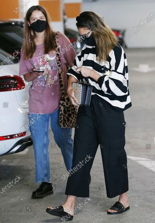 Jessica Alba and daugther Honor Marie running errands