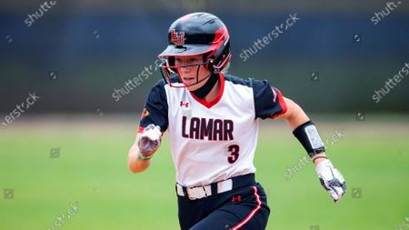 Lamar's Hannah Carpenter leads off of first during an NCAA softball game against Stephen F. Austin, in Nacogdoches, Texas. Stephen F. Austin won 9-1