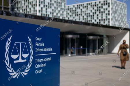 Exterior view of the International Criminal Court where former Ivory Coast President Laurent Gbagbo and former youth minister Charles Ble Goude attend a hearing in The Hague, Netherlands, . The couple were acquitted in 2019 of responsibility for crimes including murder, rape and persecution following disputed elections in 2010, with judges saying prosecutors failed to prove their case. International Criminal Court judges are ruling Wednesday on the appeal by prosecutors against the acquittal of Ivory Coast's former president and an ex-youth minister on charges of involvement in deadly violence that erupted after 2010 elections