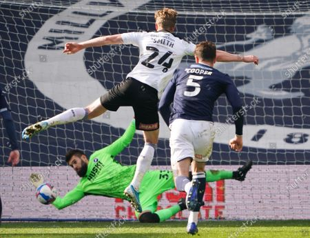 Editorial picture of Millwall v Rotherham United, EFL Sky Bet Championship, Football, The Den, London, UK - 2 Apr 2021
