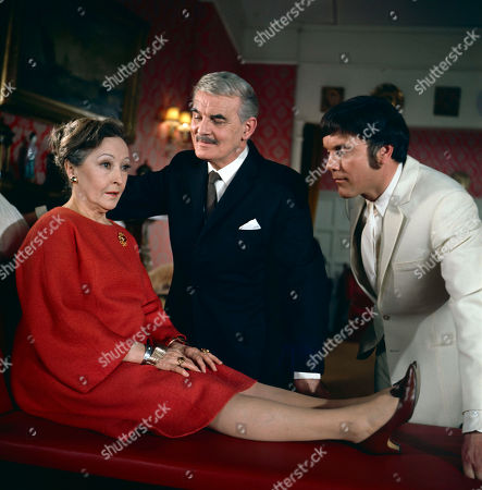 Stock Picture of Mrs. Trotter, as played by Bessie Love, Sir Oliver Norenton, as played by Clifford Evans, and Marty Hopkirk, as played by Kenneth Cope