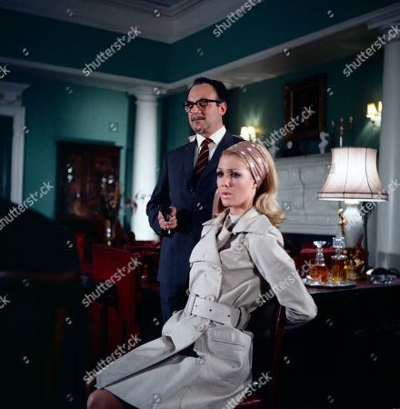 James Laker, as played by Reginald Marsh, and Jeannie Hopkirk, as played by Annette Andre