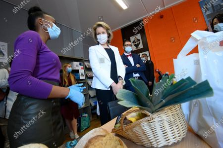 Queen Mathilde of Belgium visits the Association for Student Solidarity (ASEB)