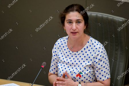 Stock Picture of Flemish Minister of Environment, Energy, Tourism and Justice Zuhal Demir pictured during a plenary session of the Flemish Parliament in Brussels, Wednesday 31 March 2021.