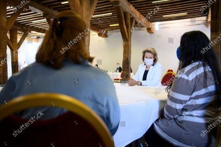Editorial image of Royals Queen Namur Aseb Students Solidarity, Brussels, Belgium - 31 Mar 2021