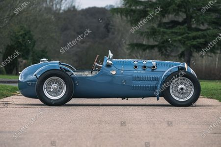 Editorial photo of Sir Stirling Moss 1950 HWM Alta Jaguar, Silverstone, UK - 23 Feb 2021
