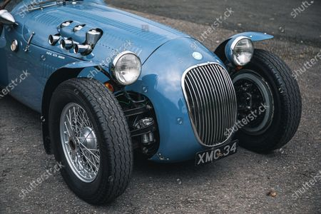 Editorial picture of Sir Stirling Moss 1950 HWM Alta Jaguar, Silverstone, UK - 23 Feb 2021