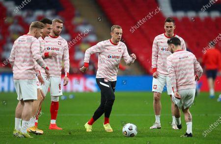 Editorial photo of England Poland WCup 2022 Soccer, London, United Kingdom - 31 Mar 2021