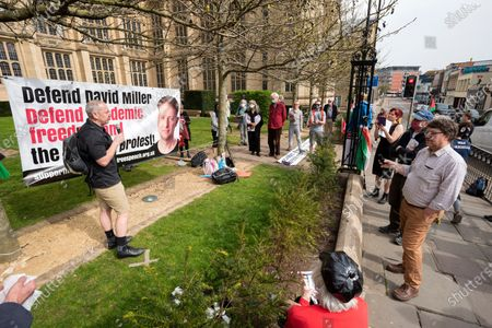 Editorial photo of Defend David Miller campaign, Bristol, UK - 31 Mar 2021