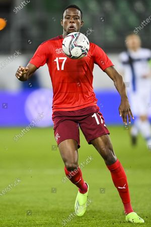 Switzerland's Denis Zakaria in action during the International Friendly soccer match between Switzerland and Finland in St. Gallen, Switzerland, 31 March 2021.