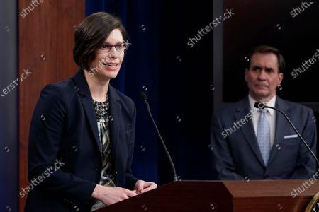 Editorial photo of Pentagon Kirby, Washington, United States - 31 Mar 2021
