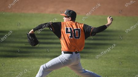 Pacific's Hunter Hayes plays during an NCAA baseball game against San Diego on in San Diego
