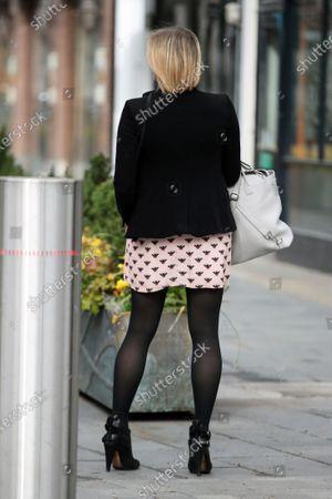 Jenni Falconer is seen departing the Global Radio Studios