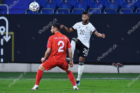 Egzon Bejtulai ( Northern Macedonia ), front - Serge Gnabry ( Germany ), back