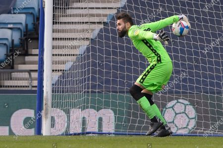 Bartosz Bialkowski of Millwall in action during the Sky Bet Championship, Championship match between Millwall and Rotherham United at The Den in London - 2nd April 2021