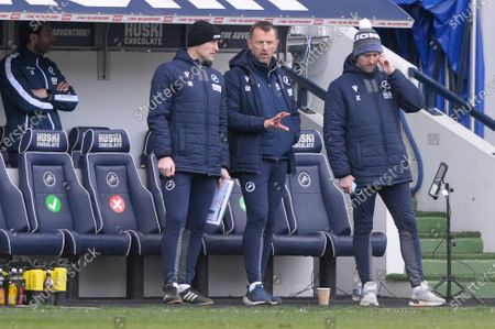 Gary Rowett of Millwall  in action during the Sky Bet Championship, Championship match between Millwall and Rotherham United at The Den in London - 2nd April 2021