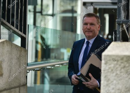 Michael McGrath, Irish Minister for Public Expenditure and Reform arriving at Government Buildings in Dublin before the Cabinet meeting.On Tuesday, 30 March, 2021, in Dublin, Ireland.