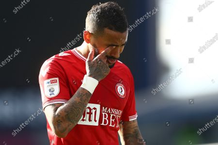 Danny Simpson of Bristol City shows a look of dejection at full time