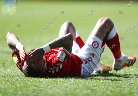 Danny Simpson of Bristol City shows a look of dejection