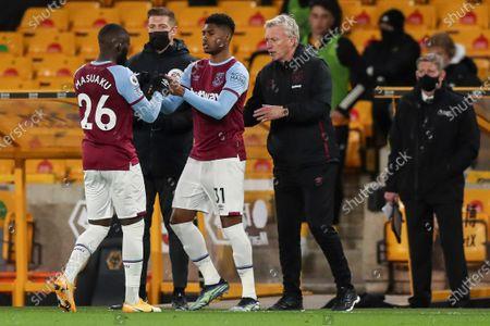 Ben Johnson of West Ham United replaces Arthur Masuaku of West Ham United