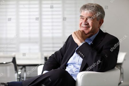 Editorial photo of Brian Gilbertson, founder of Pallinghurst Resources, in his offices on Jermyn Street, London, Britain - 20 Apr 2010