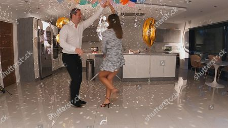 Stock Image of Paul Knightley and Sam Faiers.