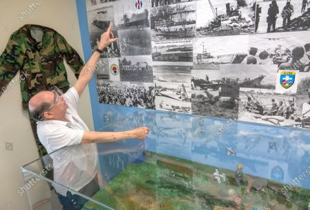 A member of the Brigade 2506 speaks about the 1961's invasion to Cuba at the Museum of the Assault Brigade 2506 in Hialeah Garden, Florida, USA, 25 March 2021. The Bay of Pigs Invasion in April 1961 was a failed attack launched by the CIA during the Kennedy administration to topple Cuban leader Fidel Castro. The Brigade 2506 was formed in 1960, by Cuban exiles, to attempt military incursion to Cuba.