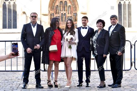 Mia Curkovic and Andrej Kramaric with Family mambers
