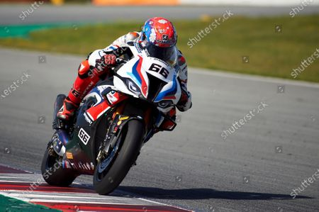 Stock Image of Tom Sykes of the MW Motorrad WORLDSBK Team in action with the BMW S1000 RR