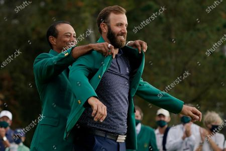 It will be 144 days from when Tiger Woods helped Johnson into his green jacket until Johnson tees off in the opening round in his bid to join Woods, Nick Faldo and Jack Nicklaus as the only repeat winners at Augusta