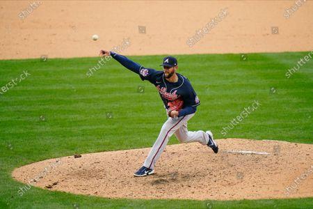 Atlanta Braves' Chris Martin plays during a baseball game against the Philadelphia Phillies, in Philadelphia