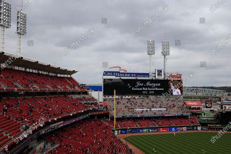 Editorial picture of Cardinals Reds Baseball, Cincinnati, United States - 01 Apr 2021