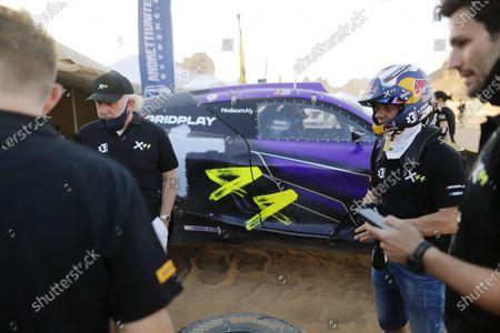 Stock Photo of David Richards, Chairman, Prodrive / Chairman, Motorsport UK, and Sebastien Loeb (FRA), X44 during the 2021 Extreme E Desert X Prix