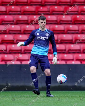 Joe Walsh of Queens Park Rangers in action during the QPR U23s vs Watford  U23s match in Professional Development League 2 South at Vicarage road Stadium, Watford on Friday 26th March 2021.
