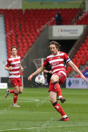 Doncaster Rovers defender Joe Wright (5) during the EFL Sky Bet League 1 match between Doncaster Rovers and Charlton Athletic at the Keepmoat Stadium, Doncaster