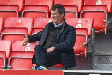 Stock Picture of Roy Keane  watching during the EFL Sky Bet League 2 match between Salford City and Grimsby Town FC at the Peninsula Stadium, Salford