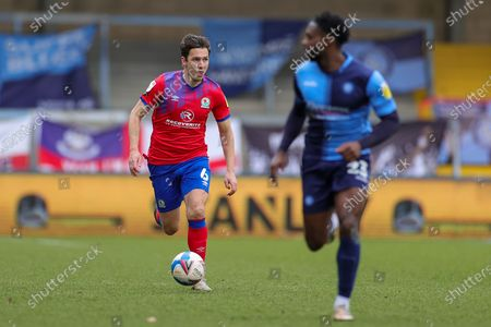 Stewart Downing (6) of Blackburn Rovers comes on in the second half during the EFL Sky Bet Championship match between Wycombe Wanderers and Blackburn Rovers at Adams Park, High Wycombe