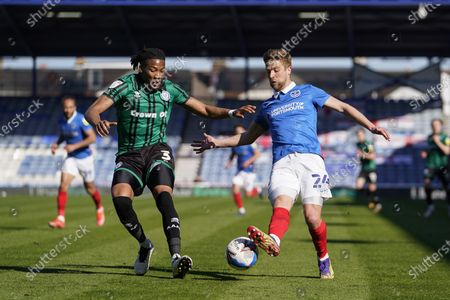 Editorial photo of Portsmouth v Rochdale, EFL Sky Bet League 1 - 02 Apr 2021