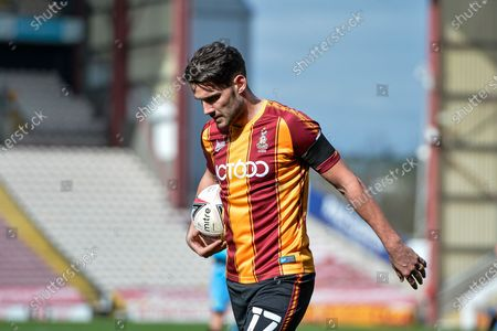 Gareth Evans Portrait during the EFL Sky Bet League 2 match between Bradford City and Forest Green Rovers at the Utilita Energy Stadium, Bradford