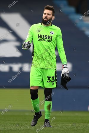 portrait Millwall goalkeeper Bartosz Bialkowski(33)  during the EFL Sky Bet Championship match between Millwall and Rotherham United at The Den, London