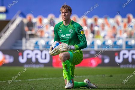 Queens Park Rangers goalkeeper Joe Lumley (1) during the EFL Sky Bet Championship match between Queens Park Rangers and Coventry City at the Kiyan Prince Foundation Stadium, London