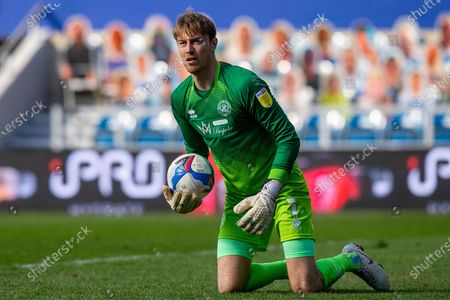 Queens Park Rangers goalkeeper Joe Lumley (1) makes a save during the EFL Sky Bet Championship match between Queens Park Rangers and Coventry City at the Kiyan Prince Foundation Stadium, London