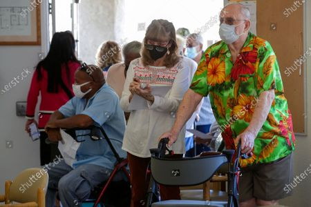 Editorial picture of L.A. County Department of Public Health holds coronavirus vaccination facility for seniors, Whispering Fountains Senior Living Community, Lakewood, California, United States - 31 Mar 2021