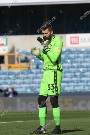 Bartosz Bialkowski of Millwall during the Millwall vs Rotherham United, EFL Championship Football match at the New Den London held behind closed doors.