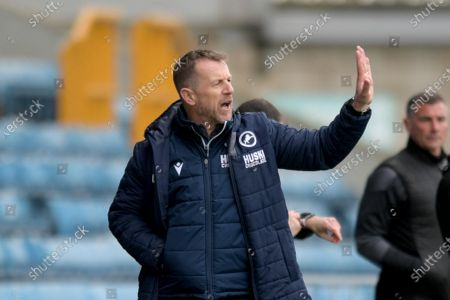 Gary Rowett Manger of Millwall during the Millwall vs Rotherham United, EFL Championship Football match at the New Den London held behind closed doors.
