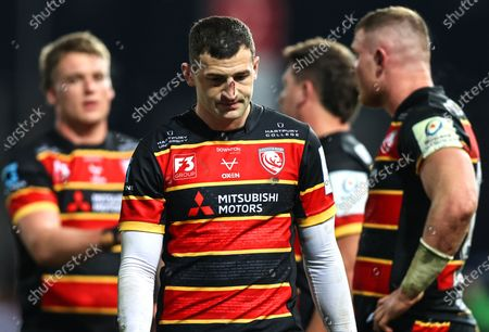 Gloucester vs La Rochelle. Gloucester's Jonny May dejected after the game