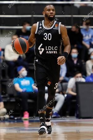 Norris Cole of LDLC ASVEL Villeurbanne in action during the EuroLeague Basketball match between Zenit St. Petersburg and LDLC ASVEL Villeurbanne on April 2, 2021 at Sibur Arena in Saint Petersburg, Russia.